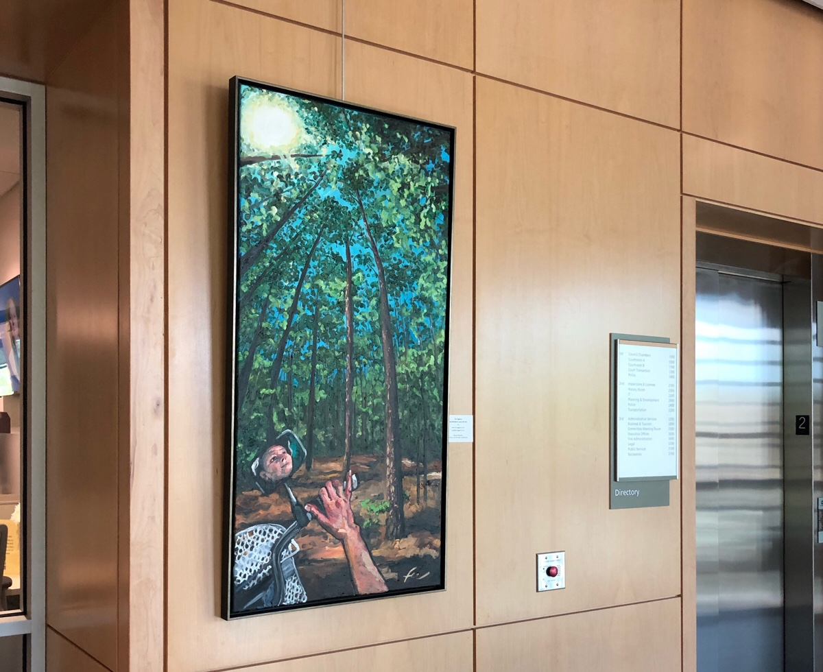 Laurel Hill Park Painting at Town Hall