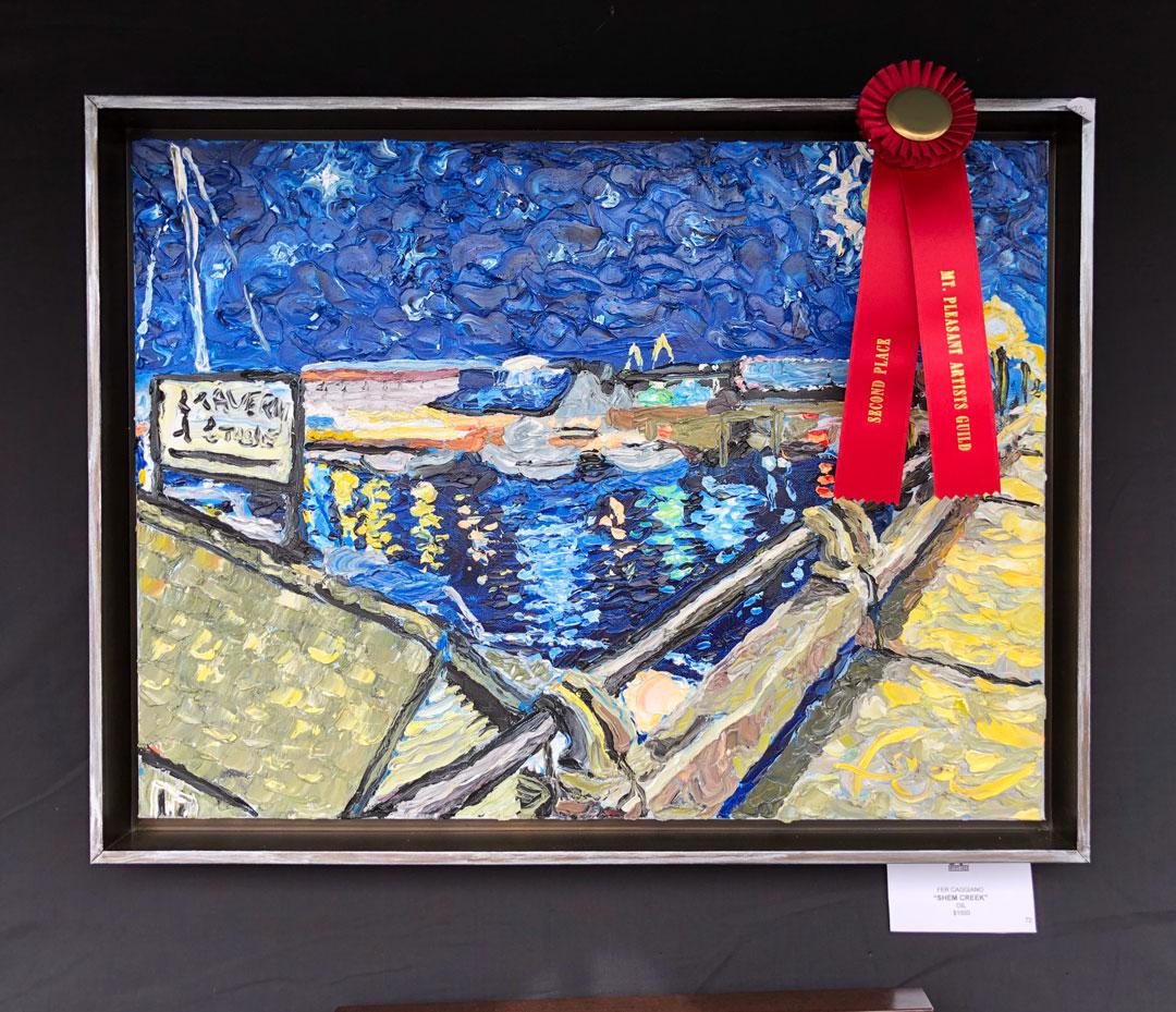 Shem Creek awarded painting