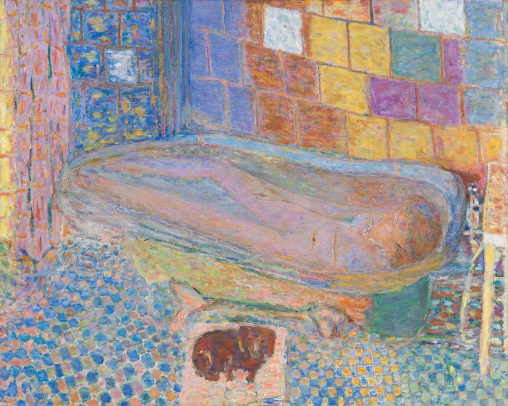 Pierre Bonnard ,1940-1946, Nude in a Bathtub, oil on canvas, 122x150cm, Carnegie Museum of Art