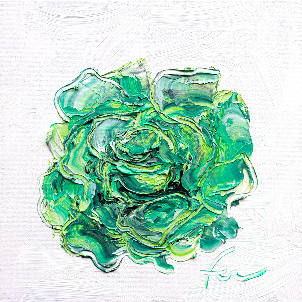 Green Rose Art
