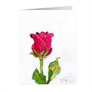 pink rose notecard